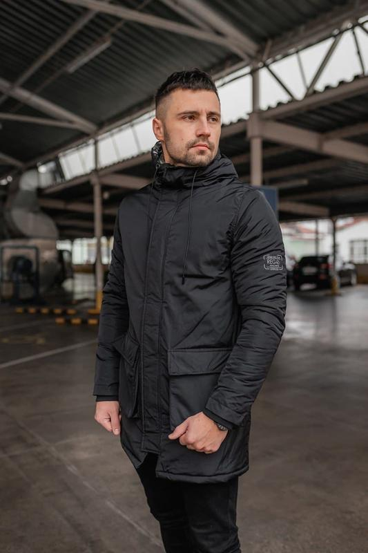 Мужская зимняя черная длинная куртка дортмунд ???? теплая куртка ...