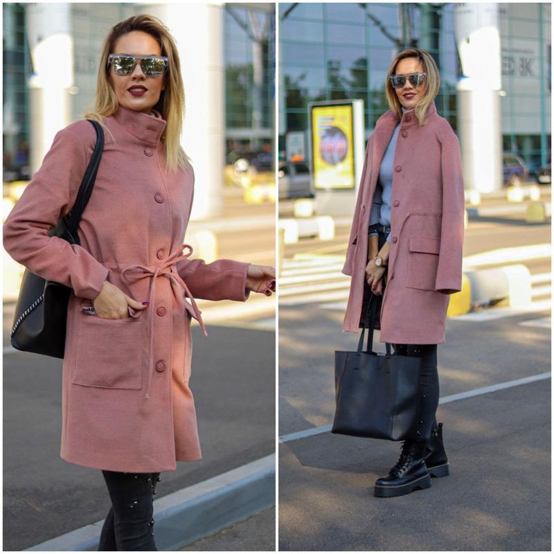 Женское стильное пальто на подкладке