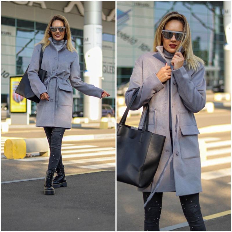 Женское стильное пальто на подкладке - Фото 2