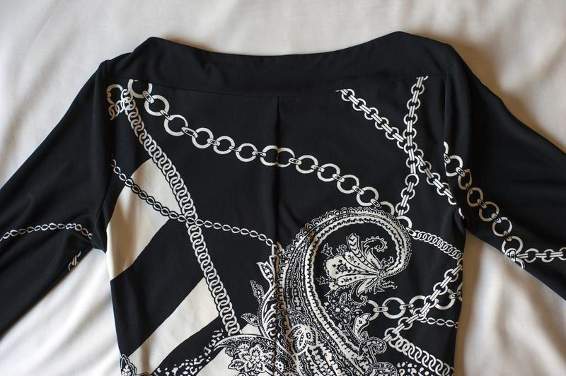 Красивенное черно-белое платье с принтом c&a, размер м - Фото 5