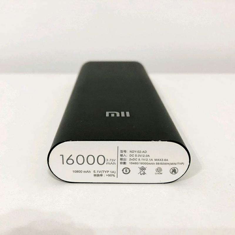 Портативное зарядное устройство power bank павербанк 16000/6000 M - Фото 3