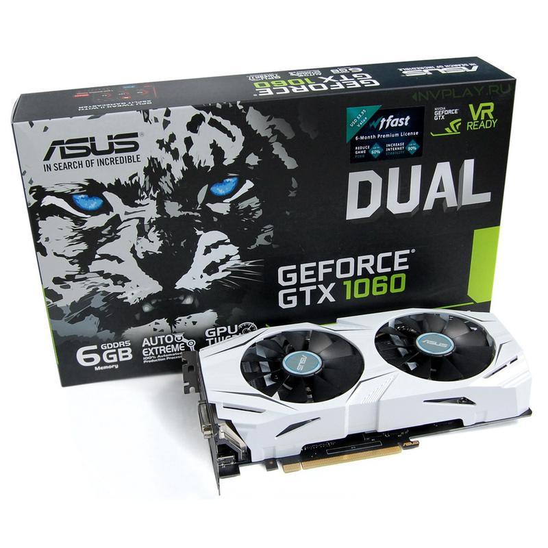 Видеокарта ASUS Geforce GTX 1060 6Gb
