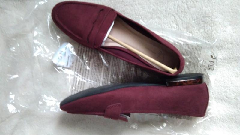 Женские туфли (лоферы), бордовые ,стелька 26.5см