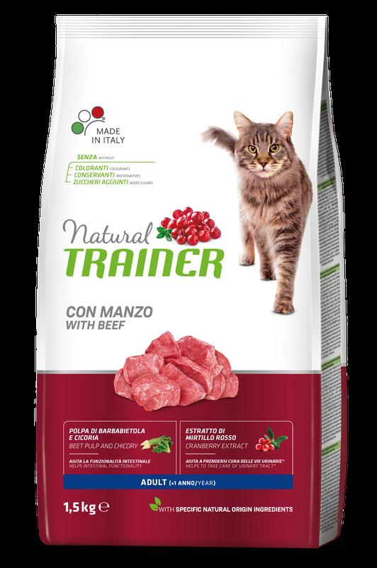 Сухий корм  NATURAL TRAINER® Супер Преміум. Кет Едалт з яловичино