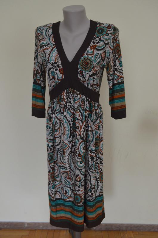 Очень красивое брендовое трикотажное платье из вискозы длинный... - Фото 2
