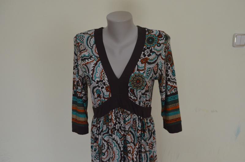 Очень красивое брендовое трикотажное платье из вискозы длинный... - Фото 3