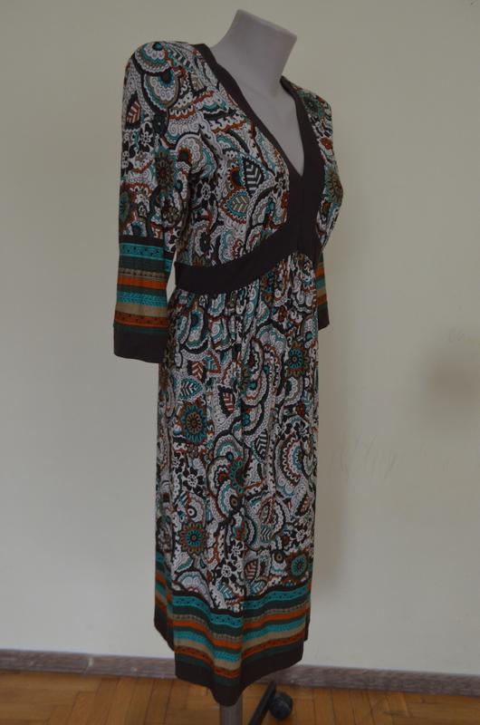Очень красивое брендовое трикотажное платье из вискозы длинный... - Фото 4