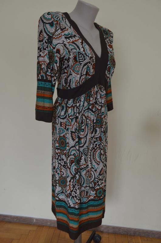 Очень красивое брендовое трикотажное платье из вискозы длинный... - Фото 5