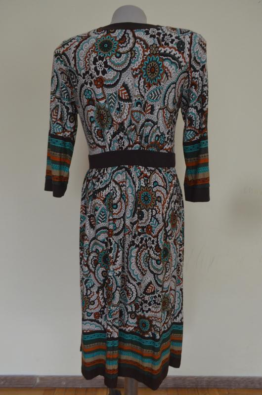 Очень красивое брендовое трикотажное платье из вискозы длинный... - Фото 6