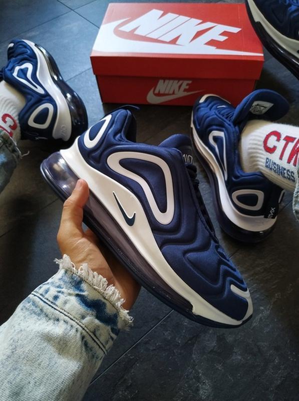 Мужские синие осенние кроссовки найк nike air max 720 blue.