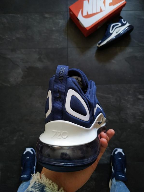Мужские синие осенние кроссовки найк nike air max 720 blue. - Фото 4
