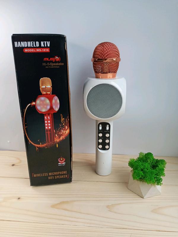 Беспроводной Bluetooth микрофон для караоке WSTER WS-1816, белый