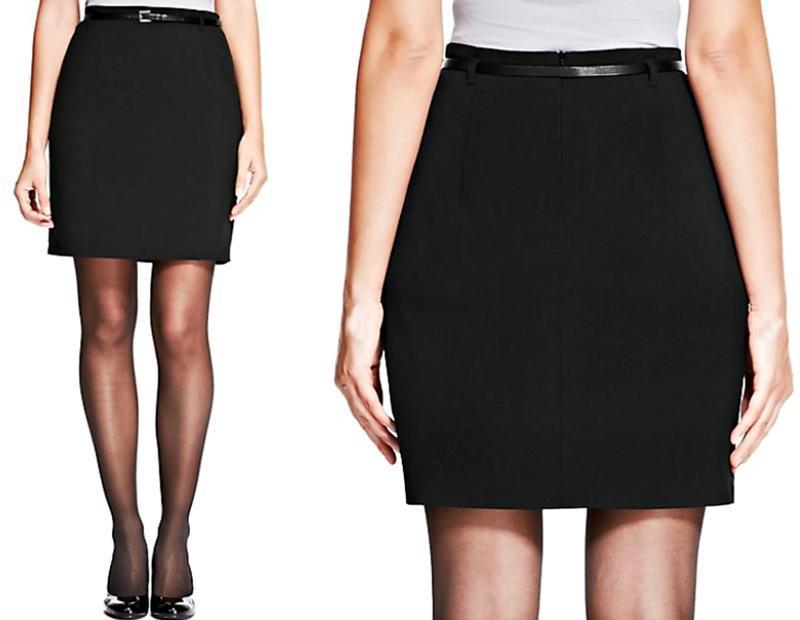 Распродажа! аккуратная юбка-карандаш с поясом р.14 - Фото 3