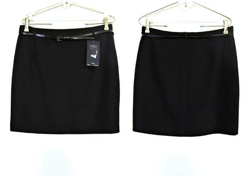 Распродажа! аккуратная юбка-карандаш с поясом р.14 - Фото 4