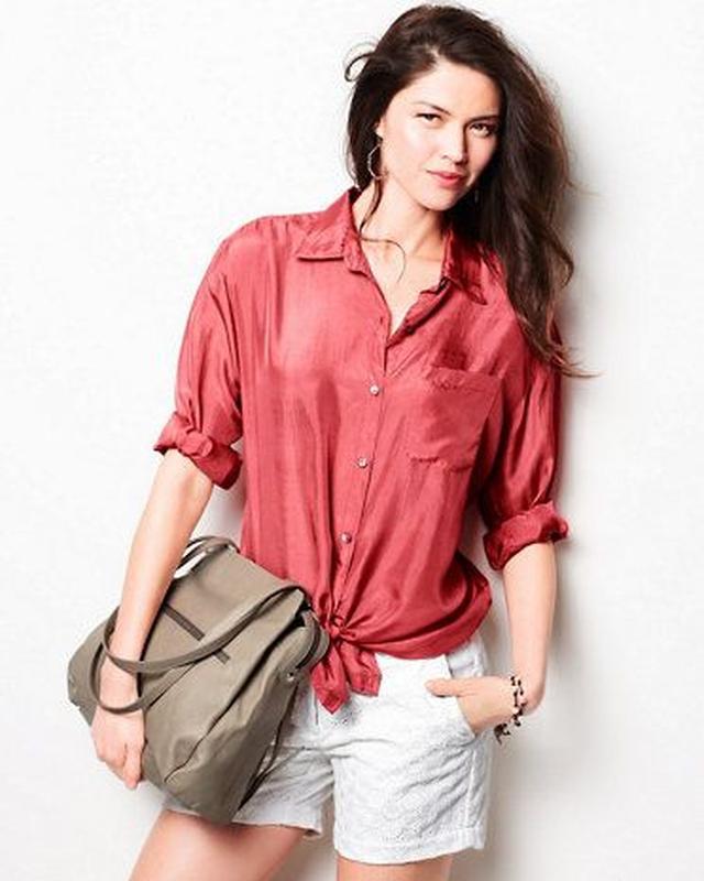 Шелковая блузка рубашка большой размер 54-56