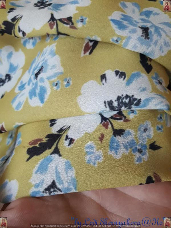 Фирменная atmosphere блуза/футболка в цветочный принт с открыт... - Фото 8