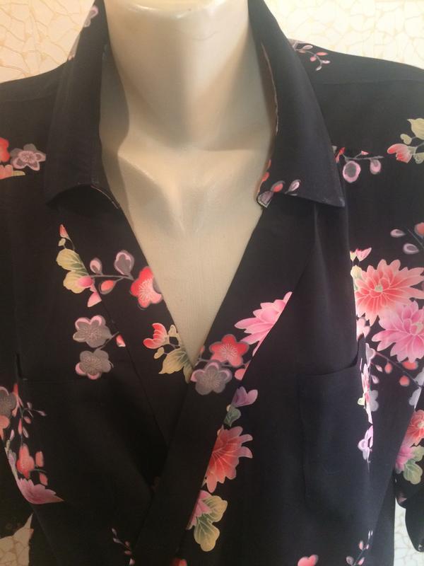 Рубашка блуза на запах в цветы натуральная ткань от oasis - Фото 2