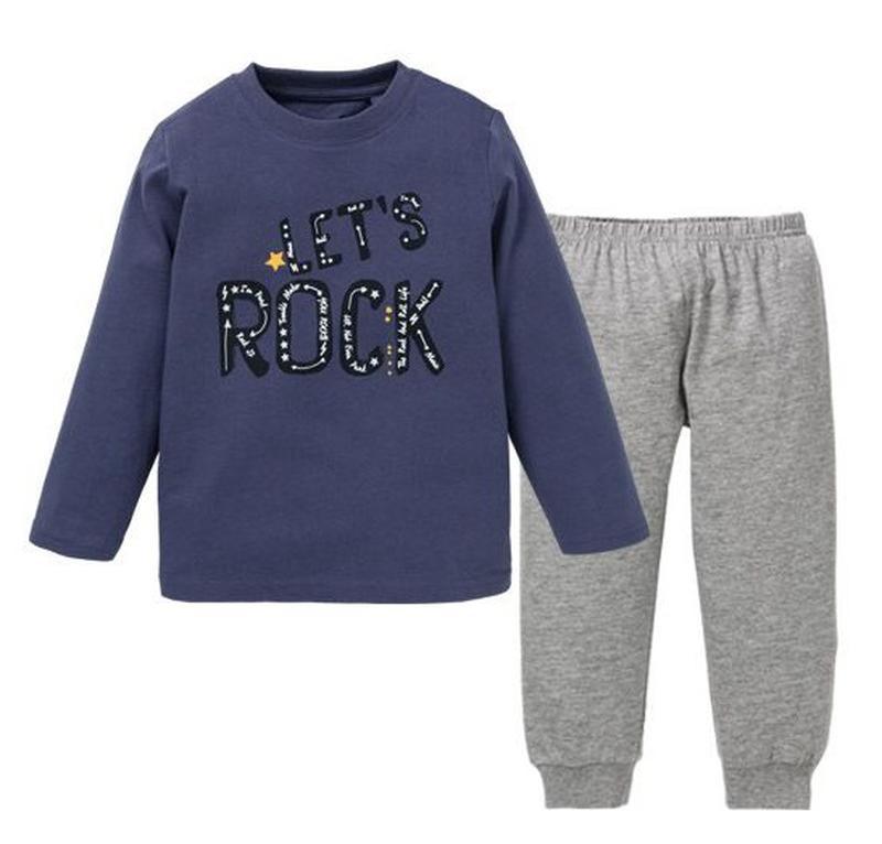Хлопковая пижама для мальчика реглан и штаны 86-92 Lupilu