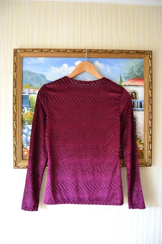 Блуза велюрова винного кольору zara - Фото 4