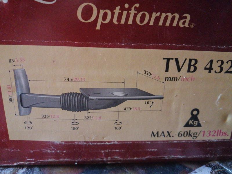 Кронштейн для ТВ настенный.до 60кг.