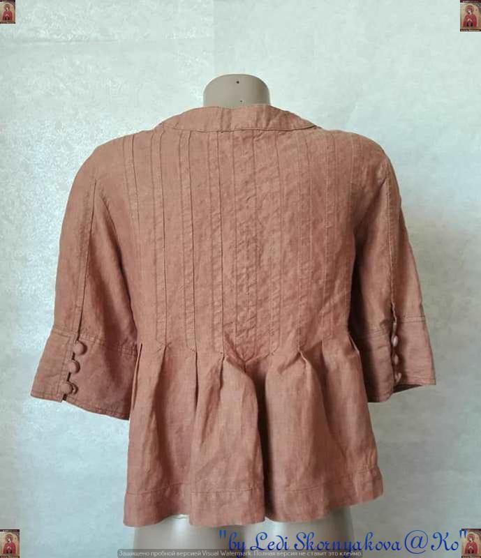 Фирменная principles peti блуза со 100 % льна с пуговичками в ... - Фото 2