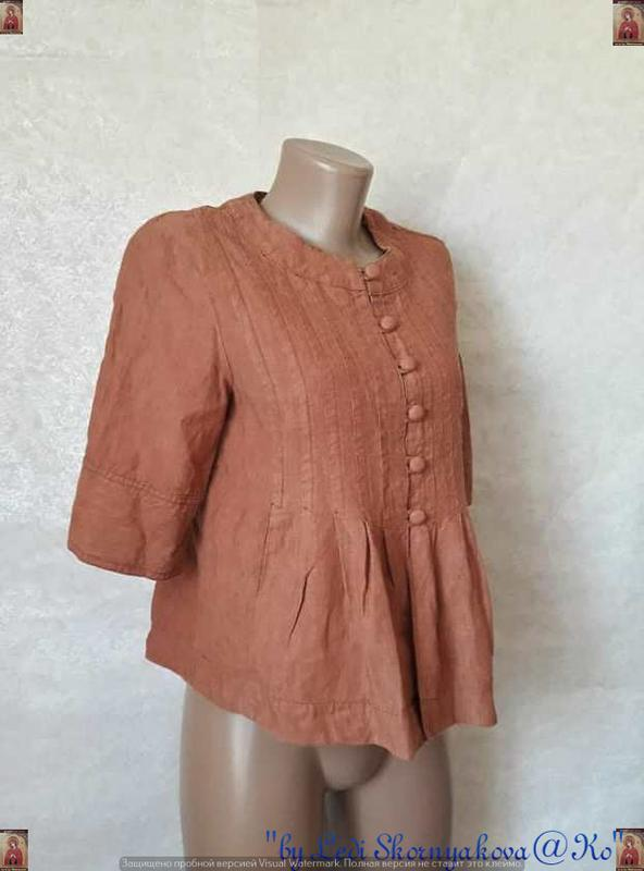 Фирменная principles peti блуза со 100 % льна с пуговичками в ... - Фото 3