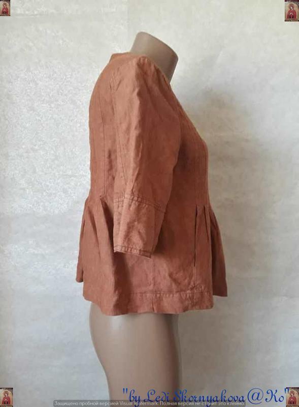 Фирменная principles peti блуза со 100 % льна с пуговичками в ... - Фото 5