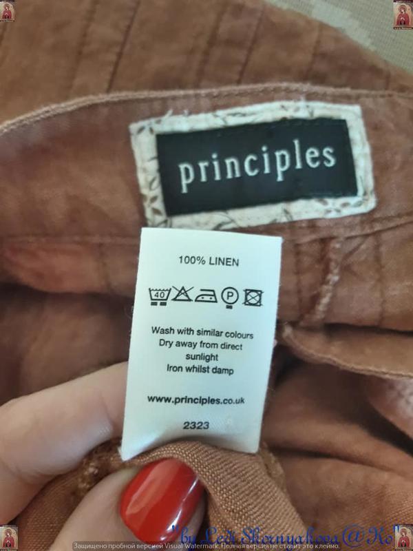 Фирменная principles peti блуза со 100 % льна с пуговичками в ... - Фото 6