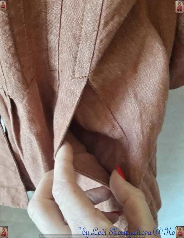 Фирменная principles peti блуза со 100 % льна с пуговичками в ... - Фото 7