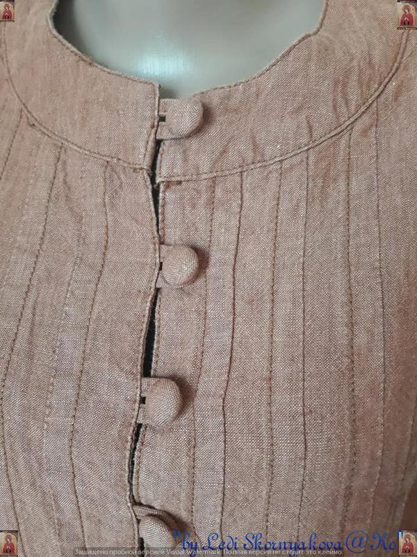 Фирменная principles peti блуза со 100 % льна с пуговичками в ... - Фото 9