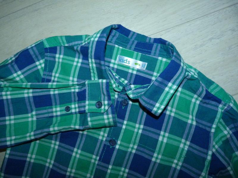 Яркая рубашка в клетку m&co 8-9 лет - Фото 2