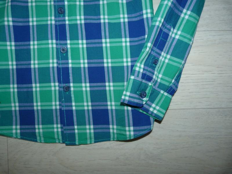 Яркая рубашка в клетку m&co 8-9 лет - Фото 3