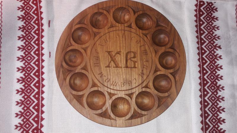 Великодня підставка для яєць і паски, великодній декор