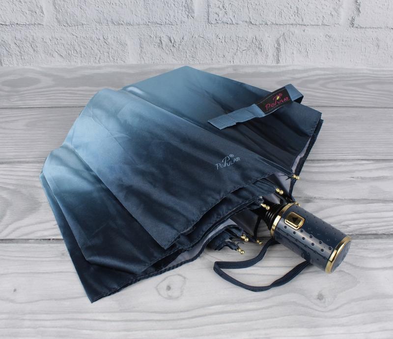 Красивый качественный складной зонт полуавтомат popular 423-3р...