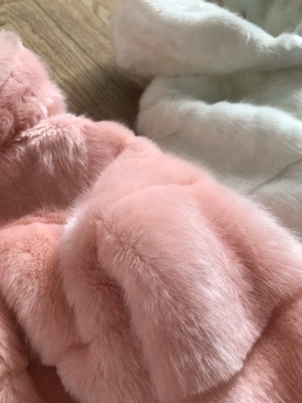 Шуба под норку искусственный мех поперечная с капюшоном до кол... - Фото 3