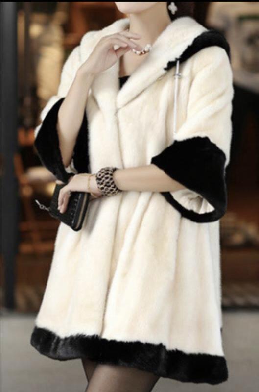 Шуба белая с капюшоном рукав 3/4, тёплая, маленький размер, дл...