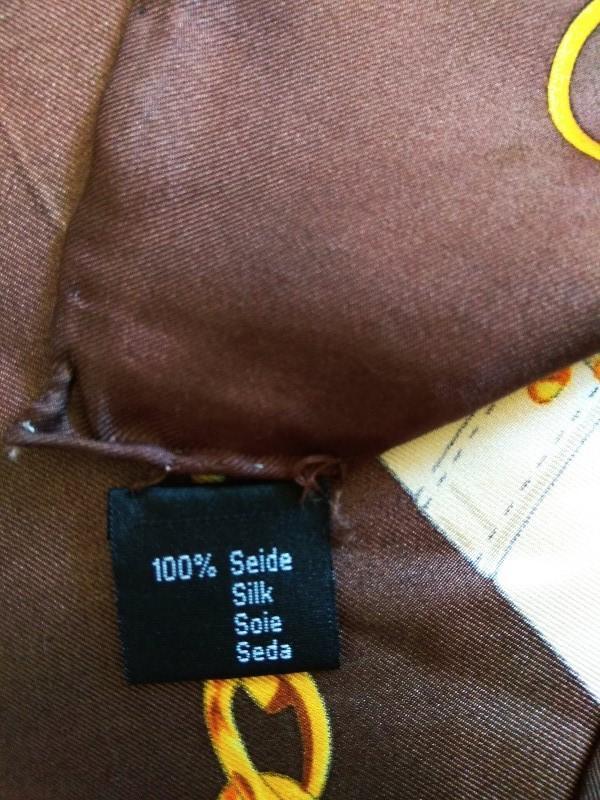 Шикарный шелковый подписной платок шов рауль от codello 100% о... - Фото 6