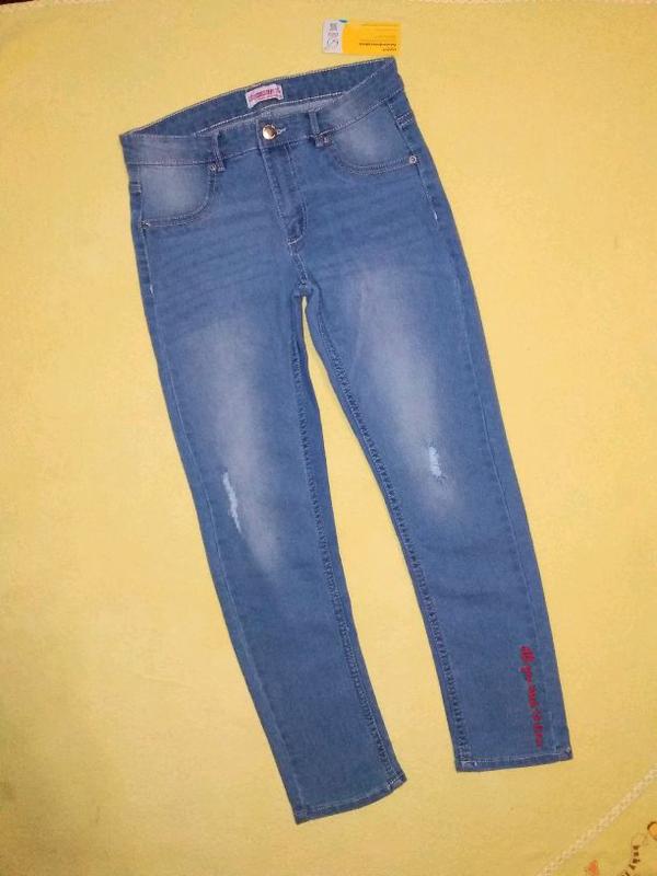 Красивые джинсы, джинсы на девочку 140 см. Польша Young Style