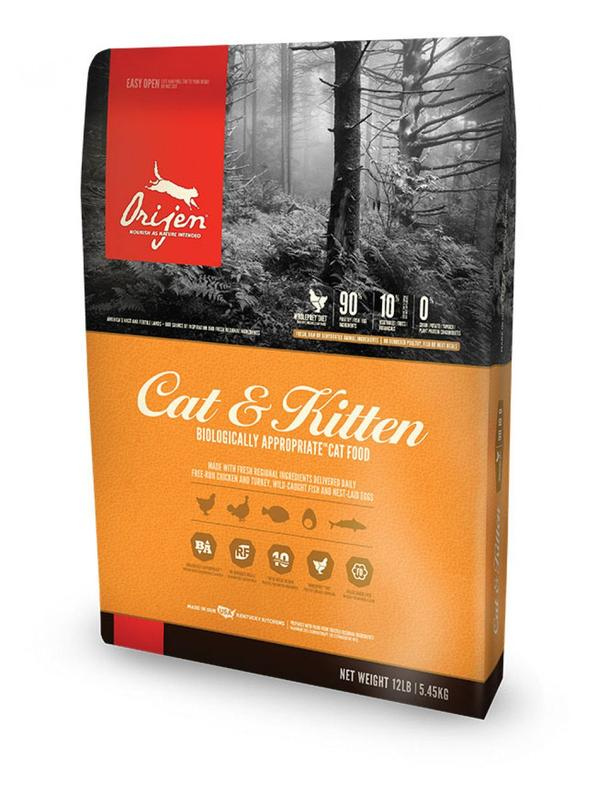Сухой корм для кошек и котят Orijen (Канада) - 4,9 кг
