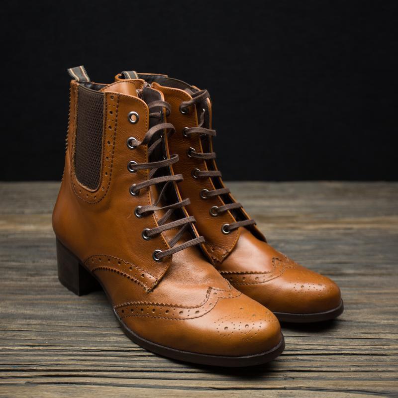 Шикарные кожаные ботинки броги fosco испания р-40