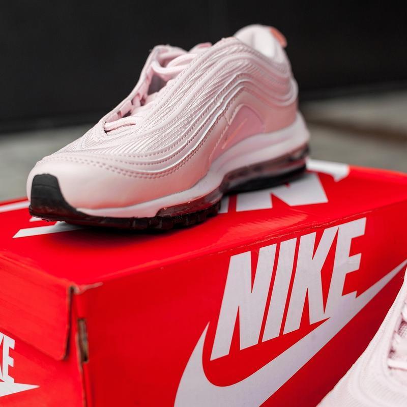 Женские розовые кроссовки nike air max 97 - Фото 3