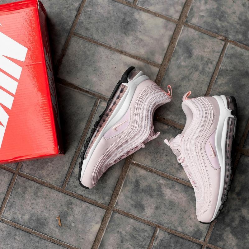 Женские розовые кроссовки nike air max 97 - Фото 4