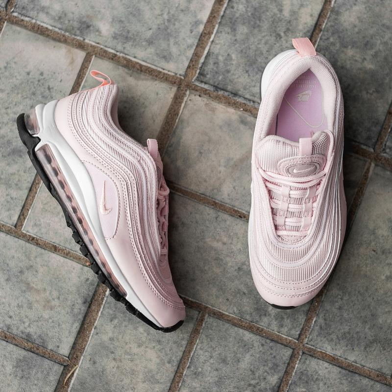 Женские розовые кроссовки nike air max 97 - Фото 7