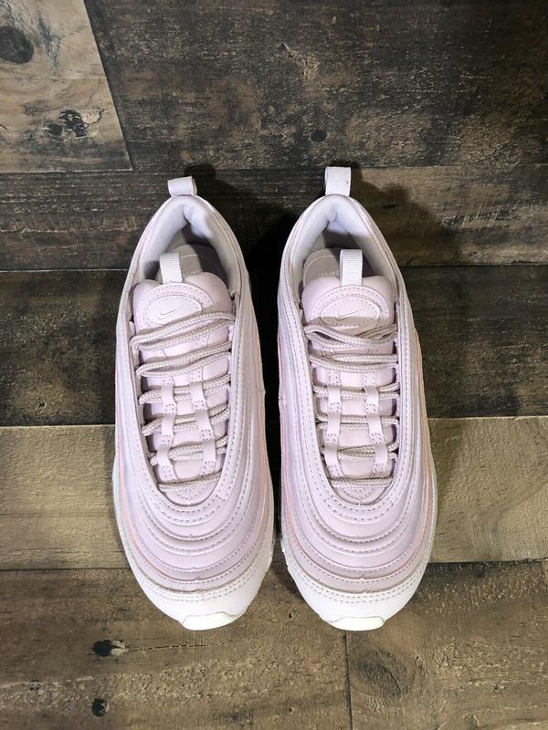 Женские розовые кроссовки nike air max 97 - Фото 8