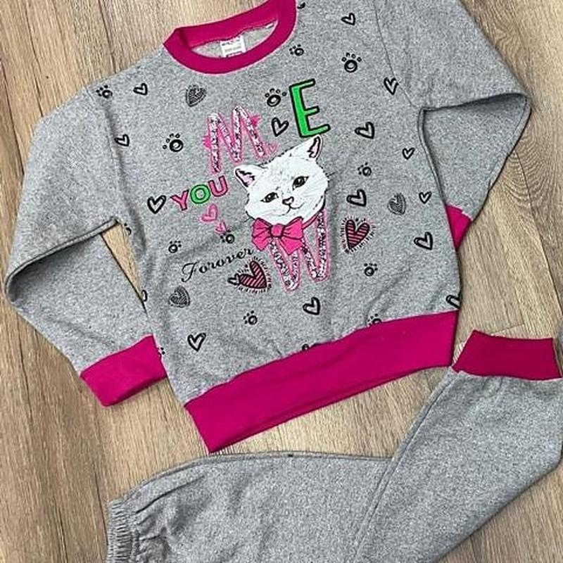 Тепленькая пижама, начесик от 1,5 до 4-5 лет, турция