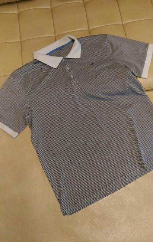 Футболка поло с 3 d объёмной фактурой ткани, р. xxl