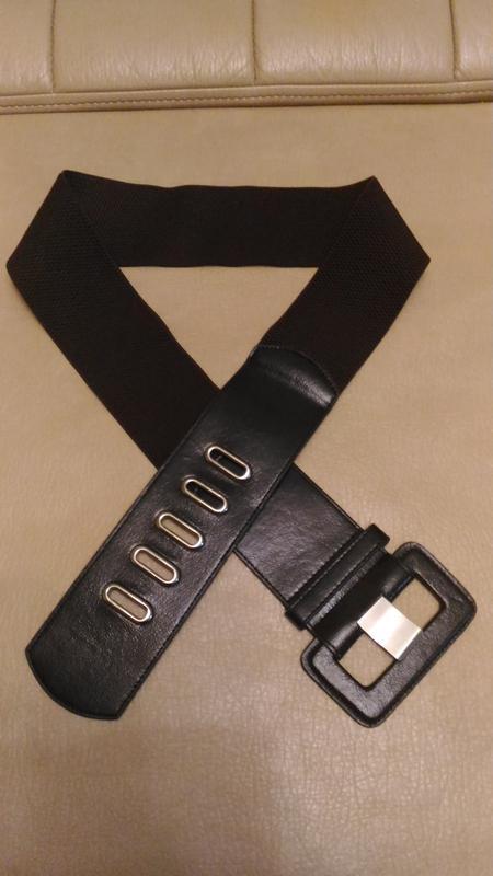 Пояс-резинка для верхней одежды тёмно-коричневый