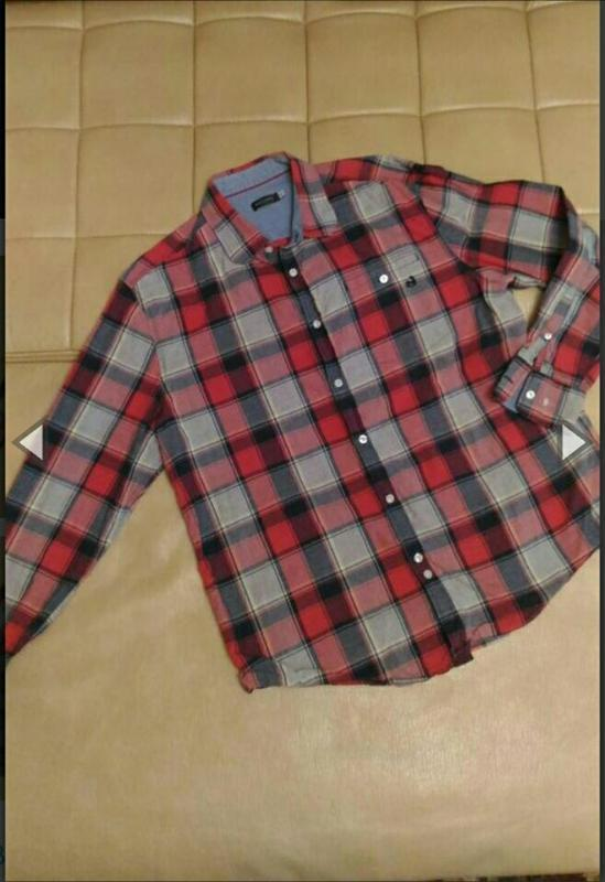 Рубашка в клетку bon'a parte , р.xxl