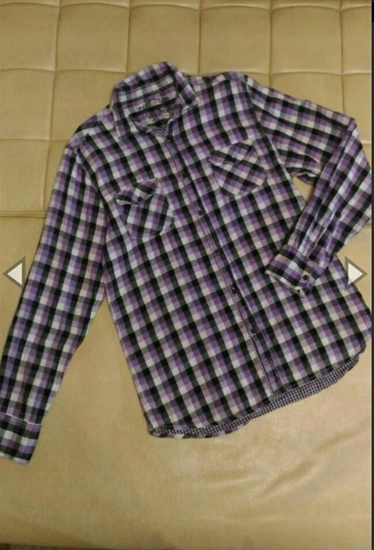 Рубашка в клетку, двойная, размер xl