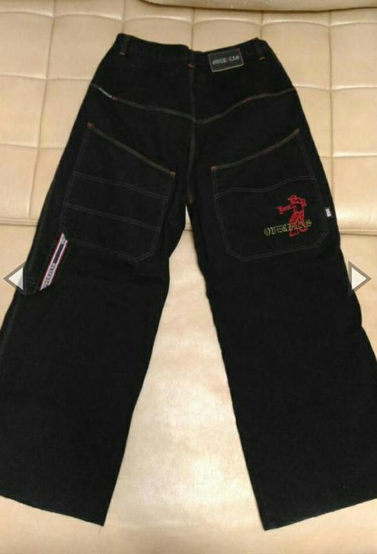 Рэперские джинсы трубы overzeas streetwear, р.32
